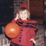 Tracy, as a crayon, circa 1984